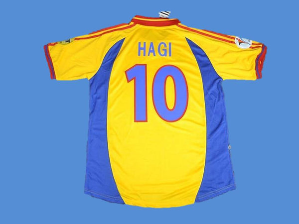 ROMANIA 2000 HAGI 10 WORLD CUP HOME JERSEY