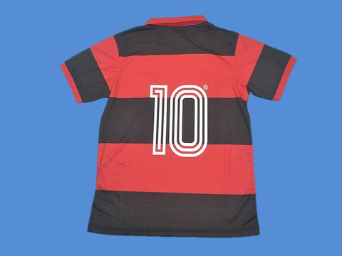 FLAMENGO 1982 NUMBER 10 HOME  JERSEY