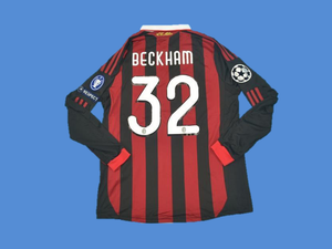 AC MILAN 2009 2010  BECKHAM 32 LONG  SLEEVE HOME JERSEY
