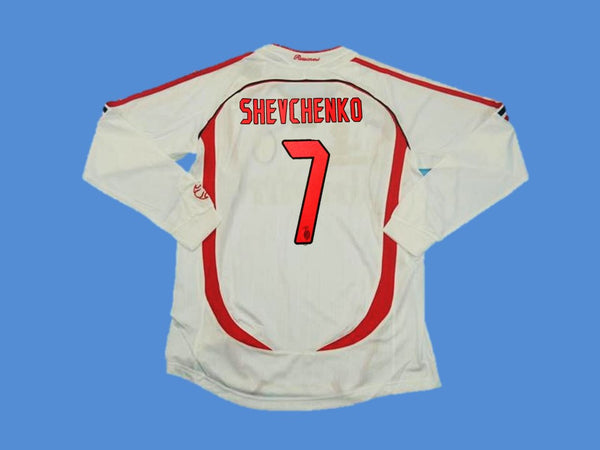 AC MILAN 2006 2007 SHEVCHENKO 7 LONG SLEEVE AWAY JERSEY