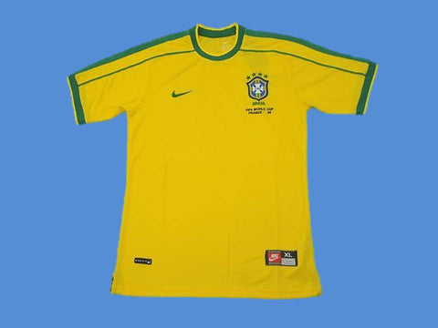 BRAZIL BRASIL 1998 WORLD CUP HOME  JERSEY