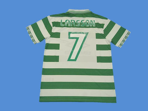 CELTIC 1997 1998 LARSSON 7 HOME  JERSEY