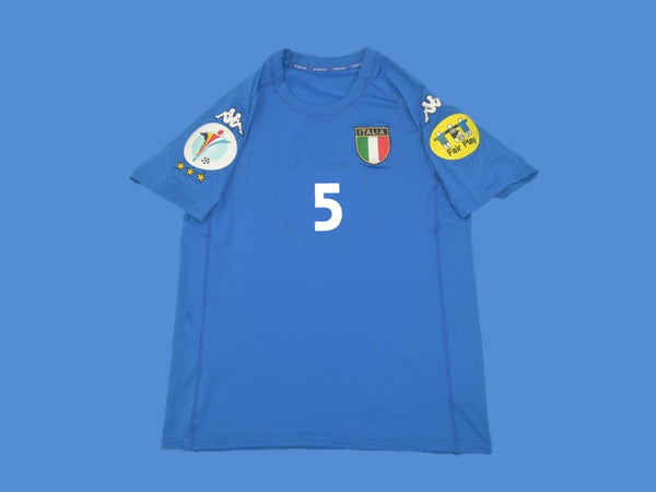 ITALY 2000 CANNAVARO 5 HOME  JERSEY EUROCUP