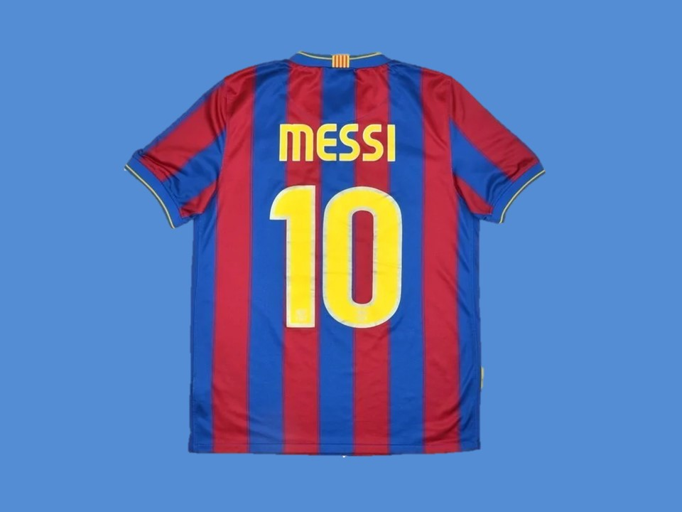 BARCELONA 2009 2010 MESSI 10 HOME JERSEY