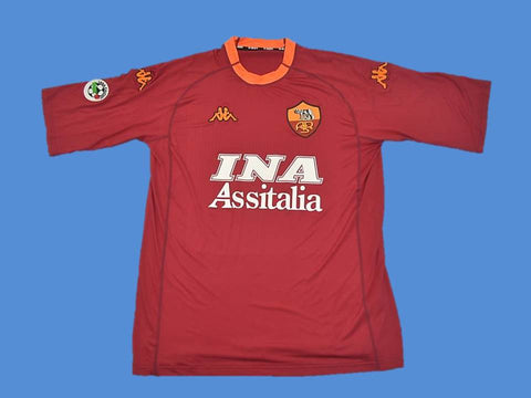 AS ROMA 2000 2001 HOME  JERSEY