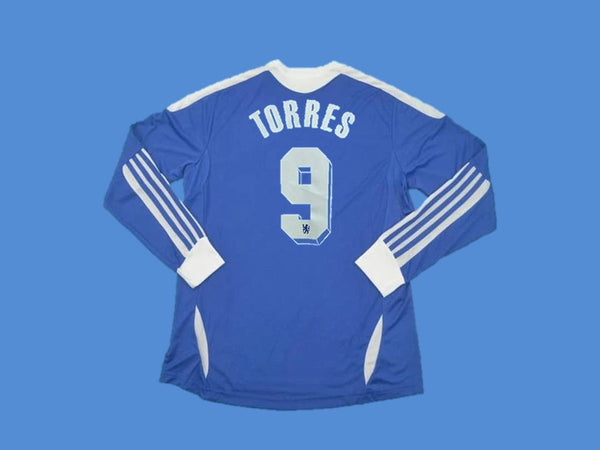 CHELSEA 2012 UCL FINAL TORRES 9 LONG SLEEVES  JERSEY
