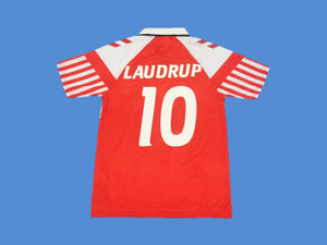 DENMARK 1992  B. LAUDRUP 10 HOME JERSEY