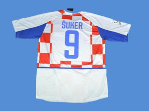 CROATIA 2002 SUKER 9 WORLD CUP HOME  JERSEY