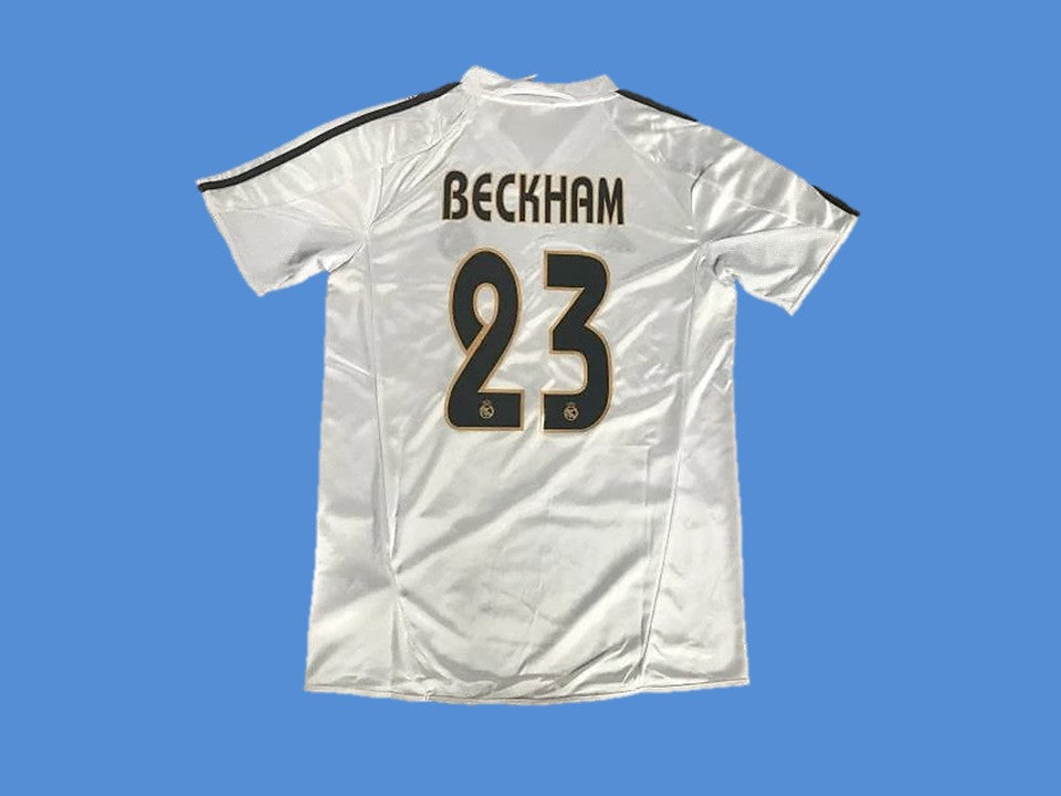 REAL MADRID 2003 2004 BECKHAM 23 HOME JERSEY