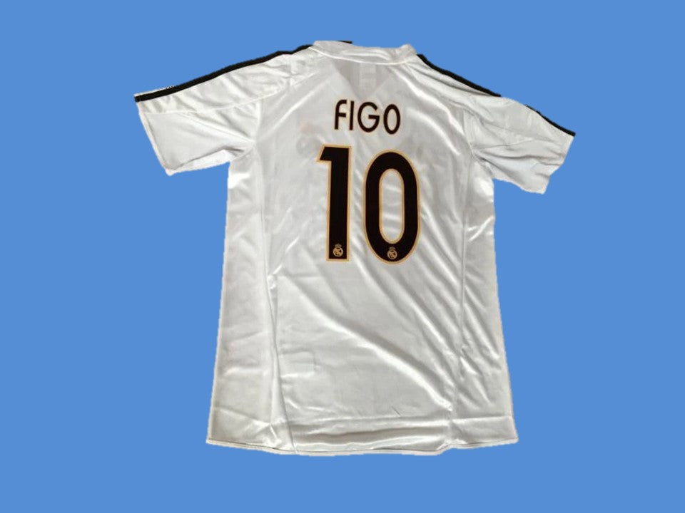 REAL MADRID 2003 2004 FIGO 10  HOME JERSEY