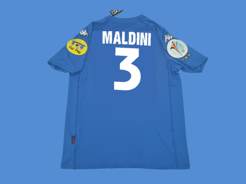 ITALY 2000 MALDINI 3 HOME  JERSEY EUROCUP