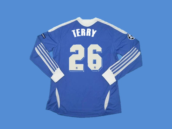 CHELSEA 2012 UCL FINAL TERRY 26 LONG SLEEVES  JERSEY