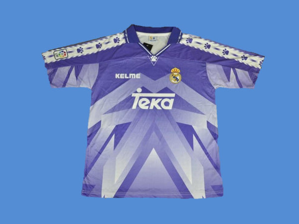 REAL MADRID 1996 1997 ROBERTO CARLOS 3 AWAY JERSEY