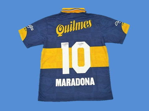 BOCA JUNIORS 1995 MARADONA 10 HOME  JERSEY