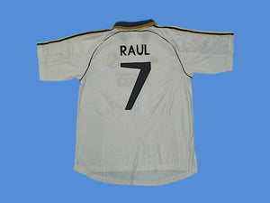 REAL MADRID 1999 2000 RAUL 7 HOME JERSEY