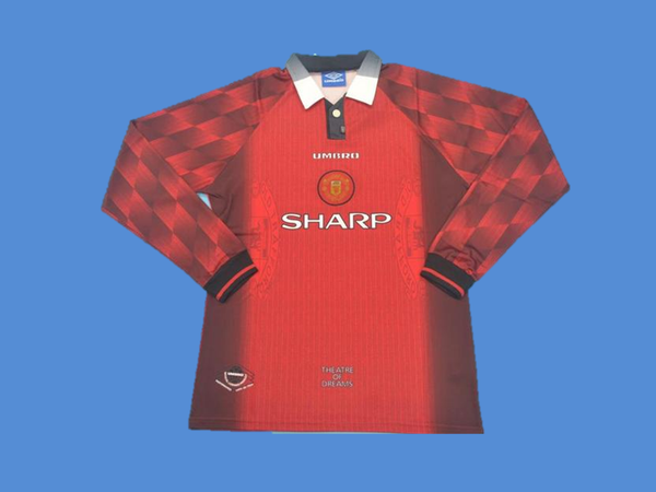 MANCHESTER UNITED 1996  LONG SLEEVE HOME   JERSEY