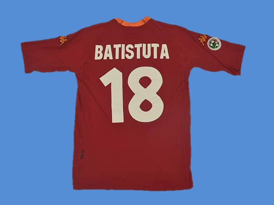AS ROMA 2000 2001 BATISTUTA 18 HOME  JERSEY