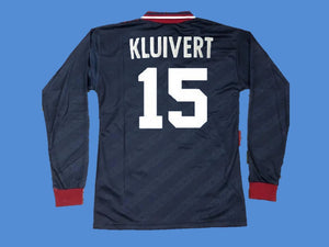 AJAX 1994 1995 KLUIVERT 15 UCL FINAL LONG SLEEVE JERSEY