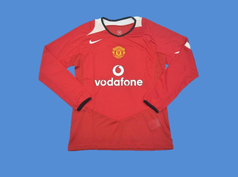 MANCHESTER UNITED 2005 2006 LONG SLEEVE HOME JERSEY