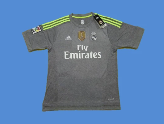 REAL MADRID 2015 2016 AWAY RAMOS 4 JERSEY WORLD CHAMPIONS