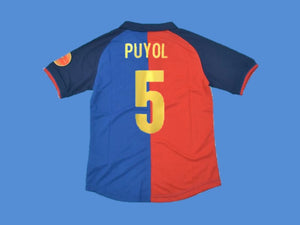 FC BARCELONA 1999 PUYOL 5 FOOTBALL 100 YEARS HOME JERSEY