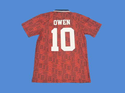 ENGLAND 1994 OWEN 10 AWAY JERSEY