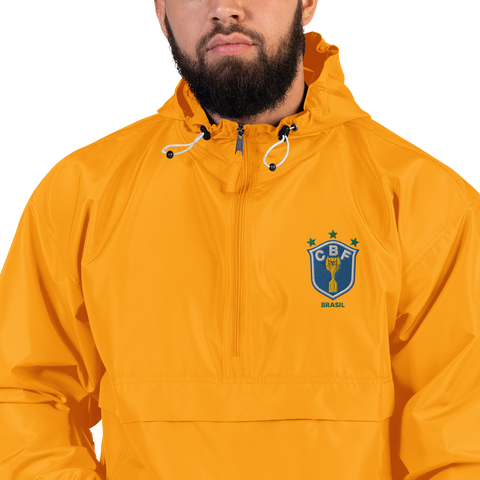 BRAZIL 1990 LOGO Embroidered Champion Packable Jacket