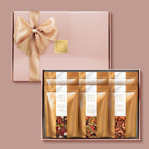 W 6 PACK ROSE GOLD GIFT BOX