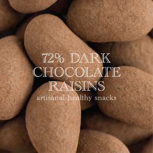 COMBO 2 - 10% Off - 72% Dark Chocolate French Sea Salt | 200g + 72% Dark Chocolate Raisins | 220g (VEGAN)