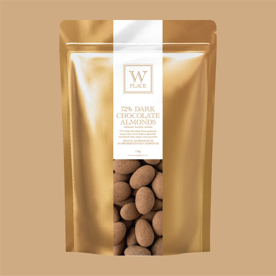 72% Dark Chocolate Almonds | 150g (VEGAN)