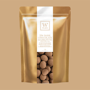 72% Dark Chocolate Hazelnuts | 150g (VEGAN)