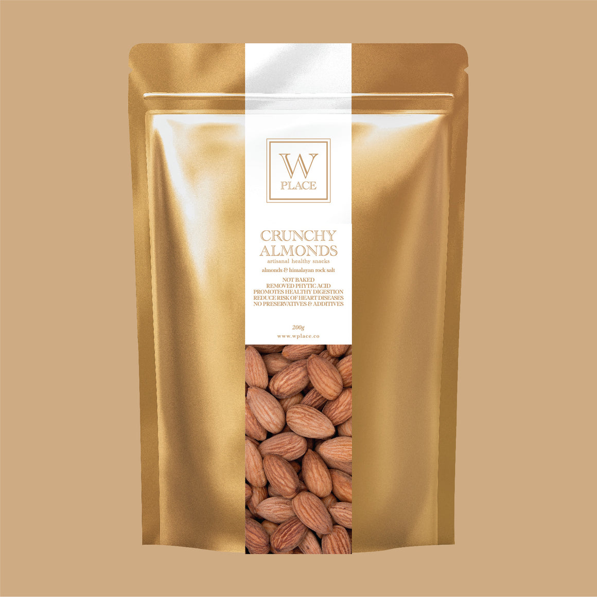 CRUNCHY ALMONDS | 200g (Not Baked | Removed Phytic Acids | Vegan)
