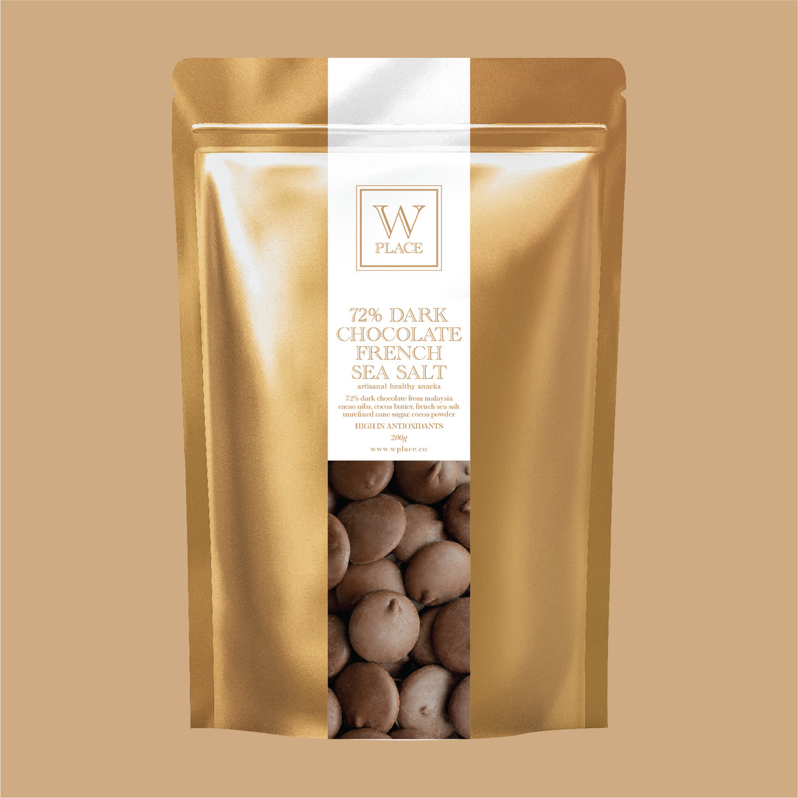 72% Dark Chocolate French Sea Salt | 200g (VEGAN)