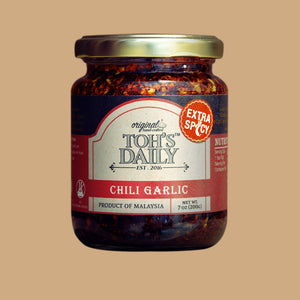 Toh's Daily Chilli Garlic Extra Spicy / 200g - RM19/pc x 6 bottles