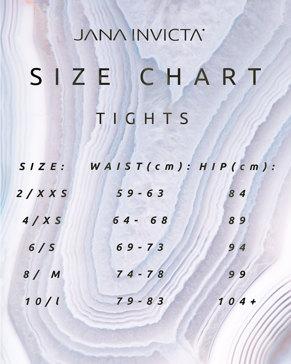 WE'VE UPDATED OUR SIZING CHART