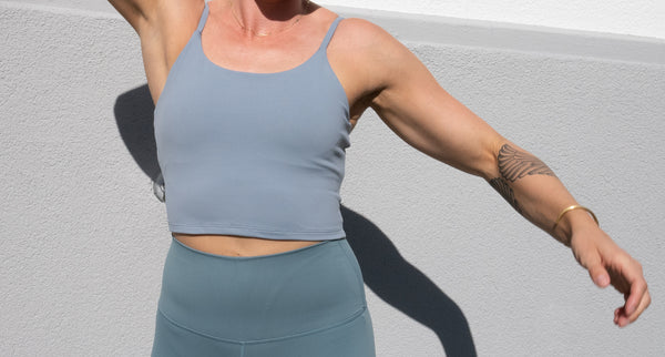 Luxe Tank Top with Support - Vintage Blue - Jana Invicta
