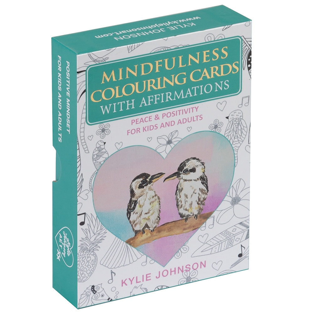 Mindfulness Colouring Cards With Affirmations