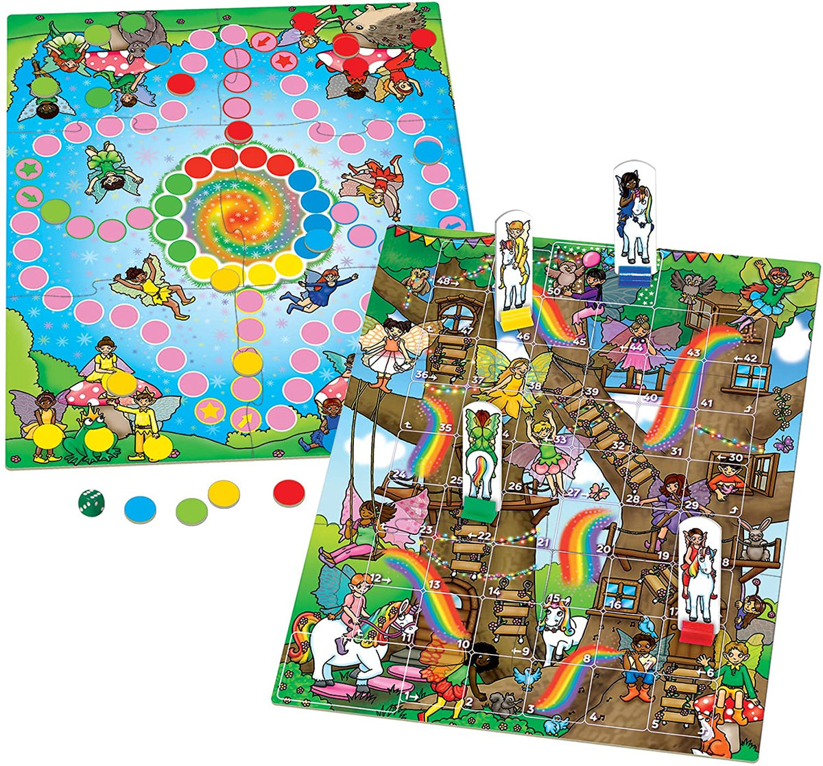 ORCHARD TOYS Fairy Snakes and Ladders/Ludo