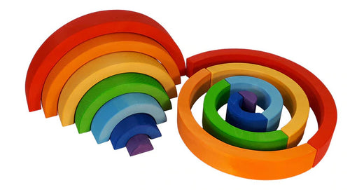BAUSPIEL Large wooden rainbow