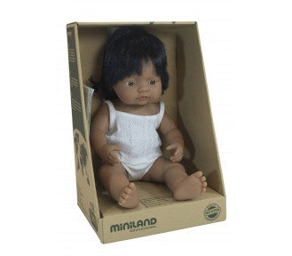 MINILAND 38cm Doll Hispanic Girl