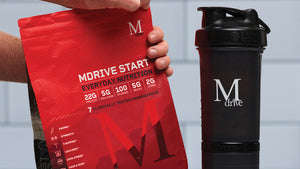 Mdrive start morning protein shake and shaker bottle