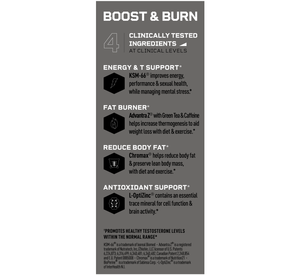 Mdrive Boost and Burn Ingredients