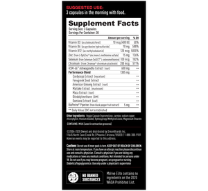 Mdrive Elite Supplement Facts
