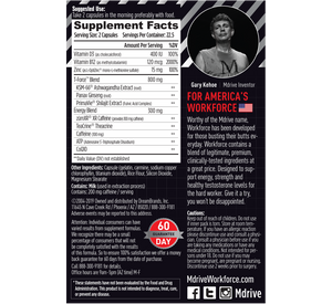 Mdrive Workforce Supplement Facts