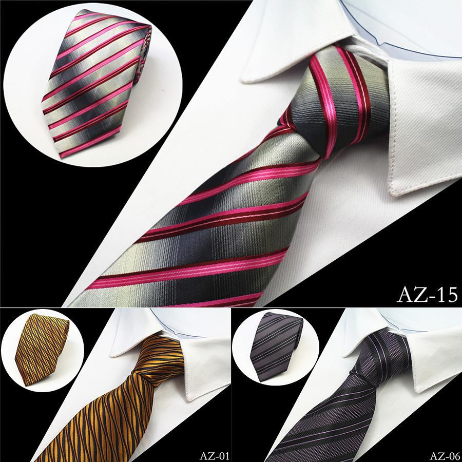 100% Silk Men Tie 8cm Striped Classic Business Neck Tie