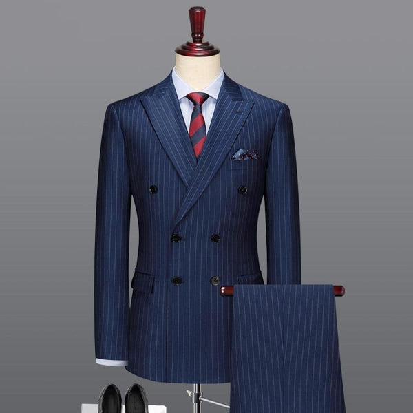 100% wool double breasted men suits  (jacket+pants)