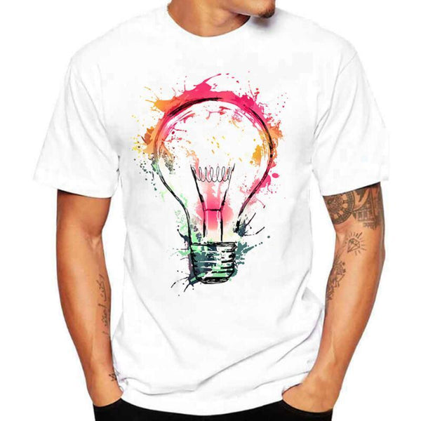 3D Print T-shirt Men Casual O-Neck