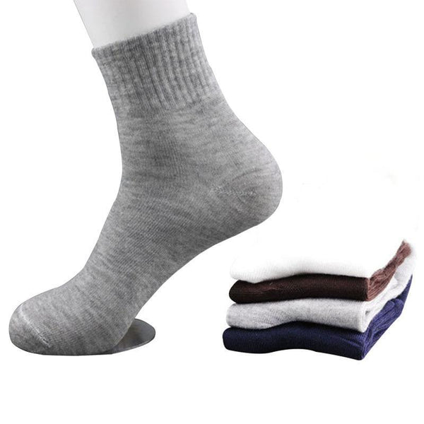 5 Pairs All Seasons Men's Business Casual Cotton Socks