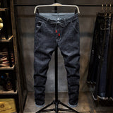 Casual Solid Black Spring Summer Jean