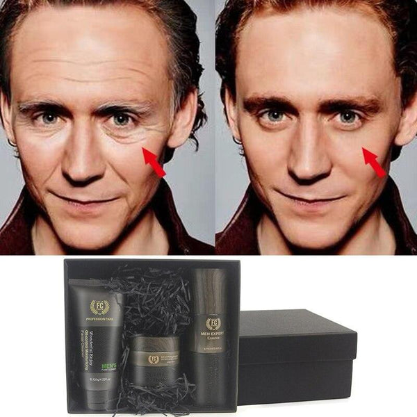 Anti Aging Daily Skincare Set Men 3pcs